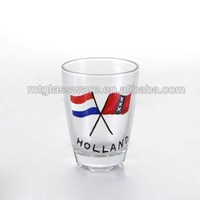 The national flag style color decal shot glass souvenir