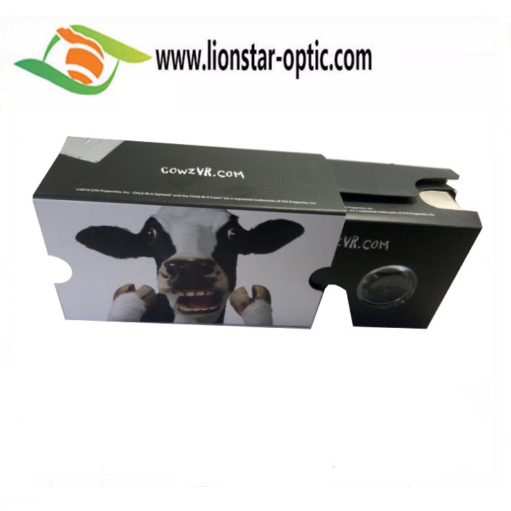 Cartoon 3D Vr Box Cardboard Vr Viewer for Gift