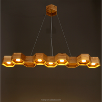 Pendant-Light-MG-1422 European modern style wood pendant lamp with LED down light spotlight for home and hotel