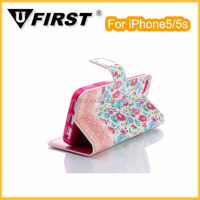 Hot sales card slot leather case cover for iphone5/5s