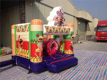 Funny Inflatable Commercial Bouncy Castles With Slide,Inflatable Jumping Bouncer