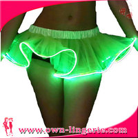 latest skirt design pictures neon micro mini skirt concert dancing tulle light skirt