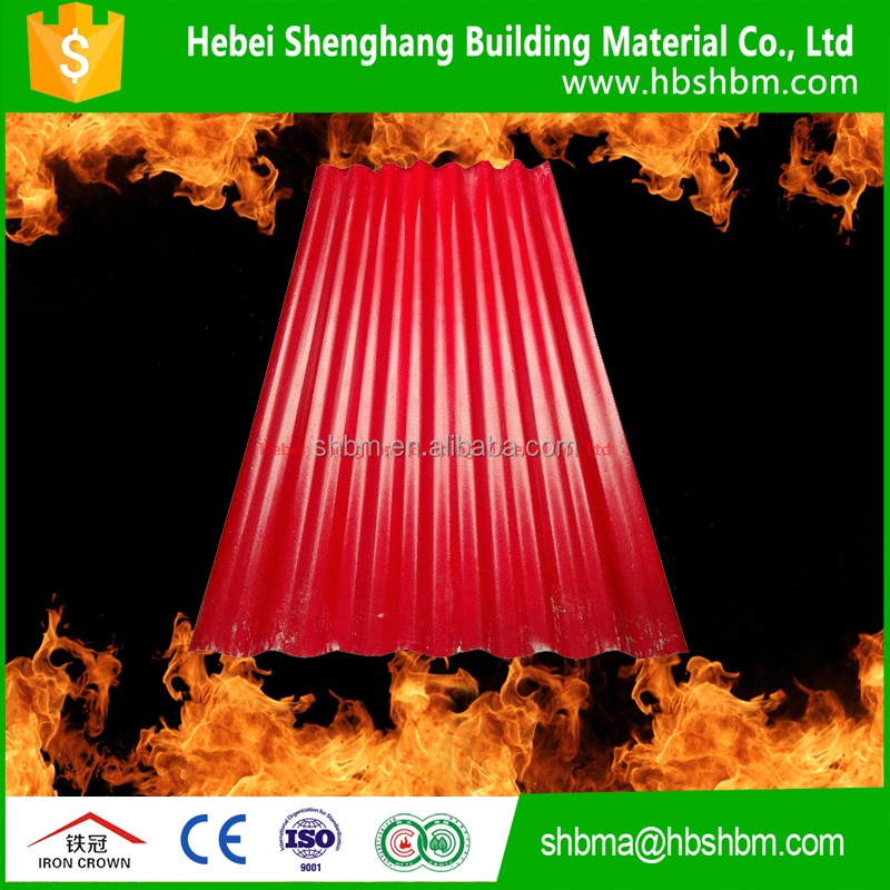 non-asbestos pantile of mgo high strength middle density low price anti-corrosion insulating fireproof china mgo roofing sheet