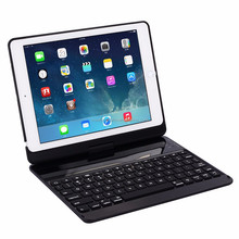 "For 9.7"" 2017 New iPad bluetooth keyboard case with 7 colors back light and rotation"