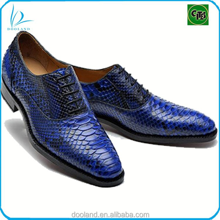 Real exotic real python skin high quality genuine python leather men shoes