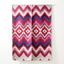 OEM wholesale fancy linen colorful stripe door curtain