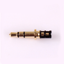 Gold Plated 3 Pole Stereo Double Track Connector Earphone Plug