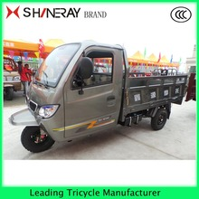 shineray 300cc gasoline 3 wheel motor trike with closed cabin cargo tricycle for adult