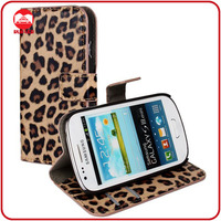 RF Factory Bulk Buy Fashion Leopard Design Stand Magnet Flip Wallet Leather Protective Case for Samsung Galaxy S3 Mini