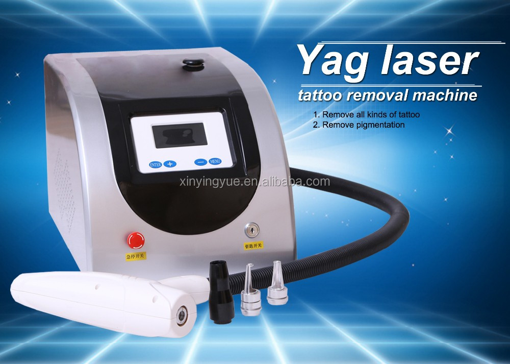 Small1064 & 532 nm Q Swhitch yag laser tattoo / pigmentation removal machine