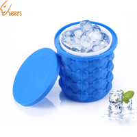 Party Drink Tray Space Saving Custom Wine Beer Silicone Ice Cube Bucket