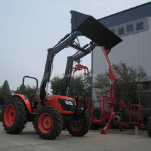 CE certificate TZ-10 Front End Loader for 95HP 4WD Kubota farm tractor