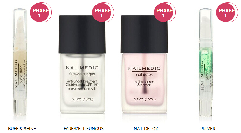 Dual-function nail treatment nail surface smoother, leaves the nail with a smooth, polished, high-shine appearance.