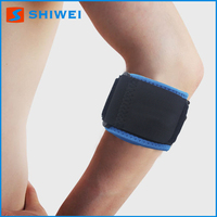 Custom neoprene tennis silicone elbow support with compression pad