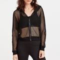 New fashion ladies zipper close meah crop tops