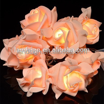 XLTD-127 new products for holiday/party/garden decoration 3m 10 leds EVA flower solar string lights