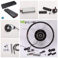 Brushless Gear Hub Motor 36V 750W Electric Bicycle Conversion Kit With Battery