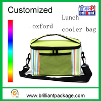 Factory custom portable lightweight fitness lunch cooler tote bag