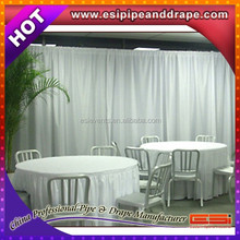 Hot sale pipe and drape kits,pipe and drape stands ceiling drape fabric for church decoration curtain