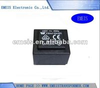 50/60Hz EI 30 Encapsulated Transformer with 1/1.2/1.5VA Power Voltage and TUV/CE/UL/cUL Marks