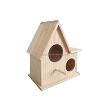 Handmade outside garden wooden bird house bird cage