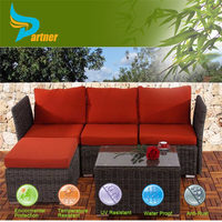 Promtional New Arrival Leisure Bar Set Waterproof Ratton Recliner Chair Outdoor Furniture