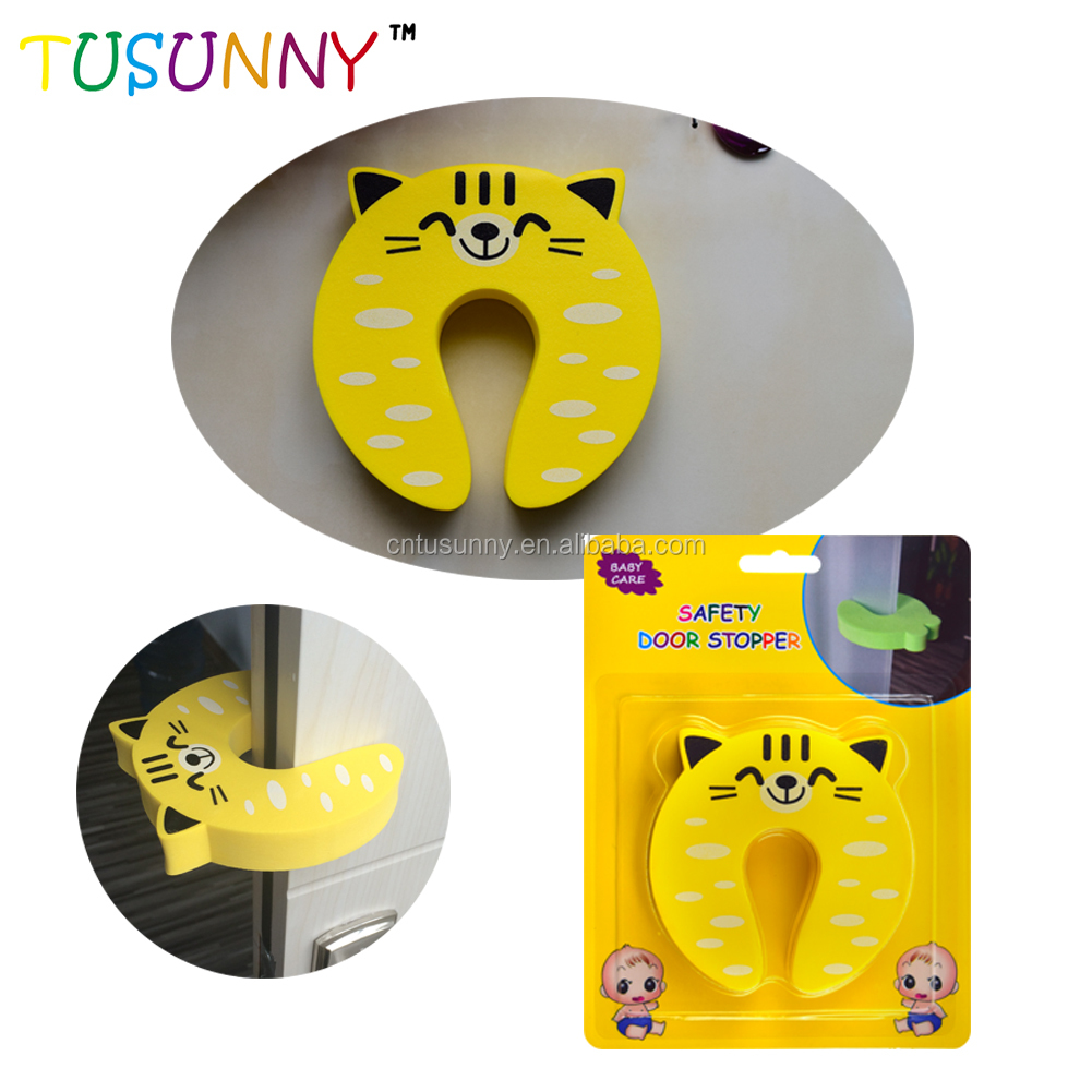 Colorful Cartoon Animal Foam Door Stopper Baby Safety Door Finger Pinch Guard