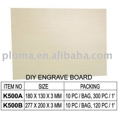 DIY CARVING WOOEDN CRAFT (K500) DIY ENGRAVE BOARD
