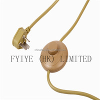 UL/CE/VDE/PVC/SAA wire / plug cord set/pendant light/lamp switch