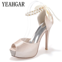 Cheap Price Original Silk High Heel Leather Women Dress Shoes for Party