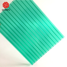 Green Polycarbonate Twin Wall 8Mm Hollow Panel Sheet