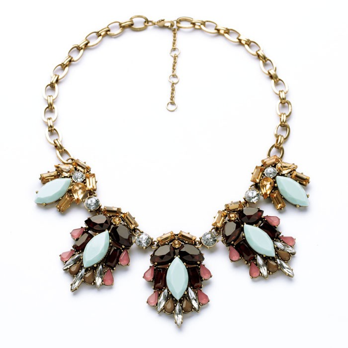 Blue Rhinestone Statement Necklace <strong>Accessories</strong> For Women