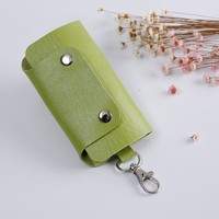 Satisfactory cheap leather car key chain holder Card wallets
