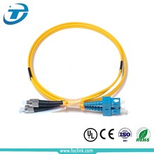 SC FC ST LC adaptor single mode fiber optic pigtail patch cord