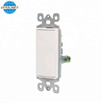 15 Amp 120/277 Volt Decora Rocker Single-Pole Residential Grade Grounding Light White Electrical Sockets Electric Wall Switches