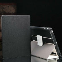 For ipad 2 3 4 case , leather case for ipad 2 with arm band and loud speaker