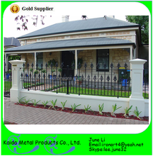 prefab wrought iron fence models for homes