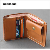 Leather Supplier China Alibaba Custom Front Pocket Pure Leather Men Wallet With Coin Pocket Travel Wallet