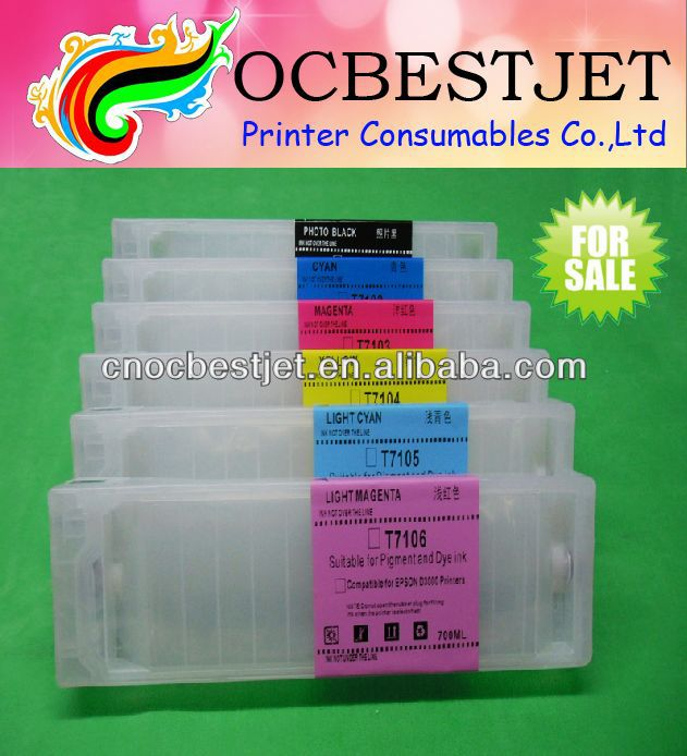 For Epson Surelab D3000 Refillable Ink cartridge For Epson T7101-T7106 Ink Cartridges (With Permanent Chips)