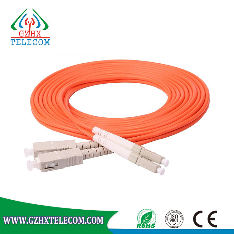FTTH Multimode SC LC Fiber optic cable jumper for couples per meter price