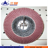 "6"" Premium brown aluminum oxide flap disc for grinding stone"