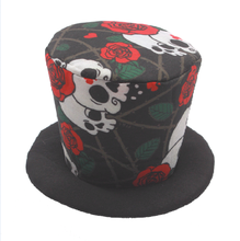 Wholesale New Arrival Plain Halloween Skull Rose Party Hats For Adults