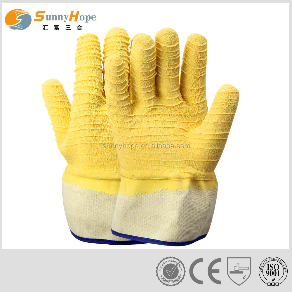 sale factory latex coated safety gloves