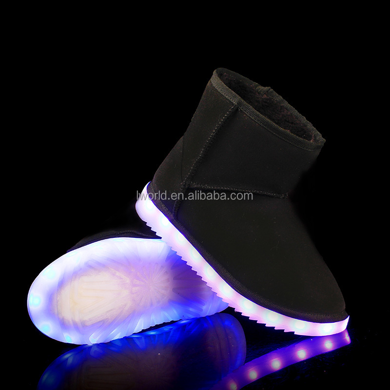 Colorful led snow boot colorful winter snow ankle boot from china led shoes