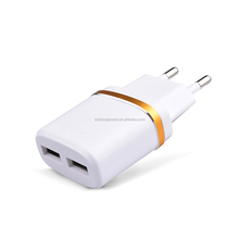 Wholesale 5V 2A EU AC Travel USB Wall Charger for iPhone 5 4 4S Samsung Galaxy S2 S3 S4 HTC Cell Phones Adapter