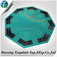 customized leather folding poker table