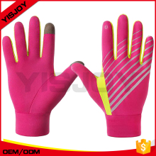 Neon Pink Elements Running Gloves Sports Warm Glove Women