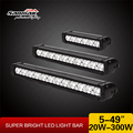 20w 5inch Offroad Car Light Single Row Aluminum Housing LED Light Bar for Trucks