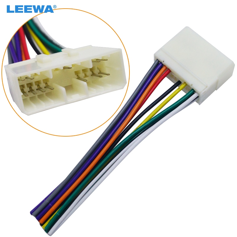 LEEWA Car Audio Radio Stereo Wiring Harness Adapter For Daewoo ... delco radio wiring color code AliExpress