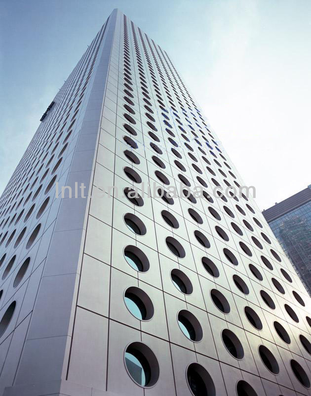 Exterior wall panel used aluminum composite panel bending for Exterior wall construction materials